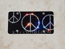 Black Crystal PEACE License PLATE.  Whats Your Colors?
