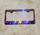 PINK to PURPLE OMBRE Swarovski Bling License Plate Frame