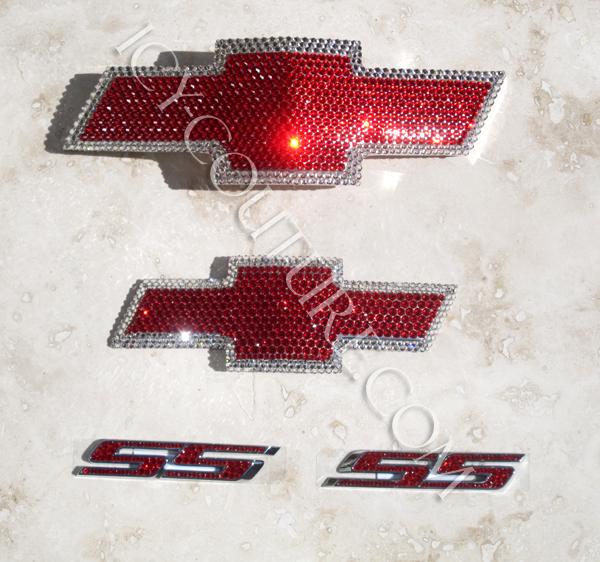 Red Chevy Emblems Bling Jpg