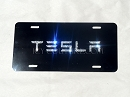 TESLA Custom License Plate with Swarovski Crystals
