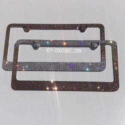 Genuine Swarovski License Plate Frame Rose AB