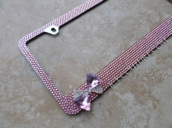3D CRYSTAL BOW Pink License Plate Frame Swarovski Crystals. Whats Your Color?