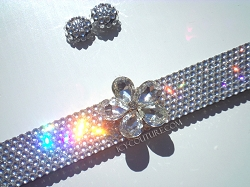 Flower Child 3D Bling Flower License Plate Frame Swarovski Crystals