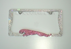 3D JAGUAR Bling License Plate Frame with Swarovski Crystals