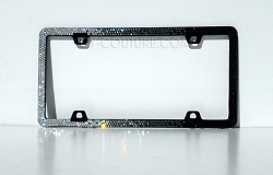 3 Row Horizontal Ombre Swarovski Crystal Bling License Plate Frame.