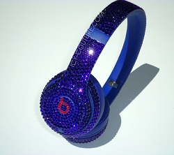 Cobalt Blue Bling Beats Design with Swarovski Crystals