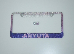 Your Name Ombre License Plate Frame Swarovski Crystals