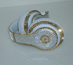 Diamonds & Gold Couture Beats Design with Swarovski Crystals