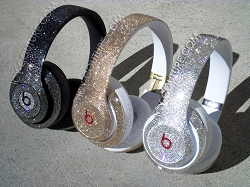 CUSTOM FADING BLING Beats by Dre Bedazzled Headphones. Whats Your Colors?