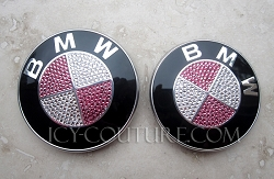 PARTIAL BLING BMW Emblem. Whats your colors?