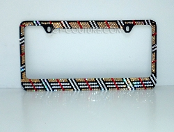 Designer Edition - Burberry Inspired License Plate Frame Swarovski Crystals