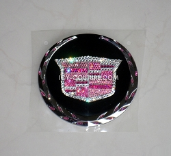 Crystal PINK CADILLAC Emblems! Select Your Set.