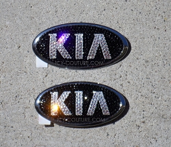 ICY Couture KIA Emblems Swarovski Bling. Select Your Set. Whats Your Colors?