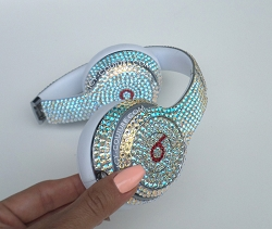CRYSTAL SHIMMER Custom Beats with Swarovski Crystals