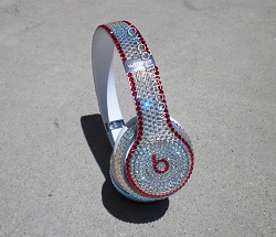 Crystal Shimmer and Red Couture Beats Design with Swarovski Crystals