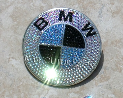Custom Colored Bling BMW Emblem - Build Your Own Crystal Colors!