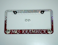 Name of Queen License Plate Frame Swarovski Crystals
