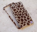 Bling My Phone! Giraffe print - Swarovski Bling Phone cover