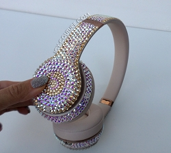 Iridescent Couture Beats Design with Swarovski Crystals