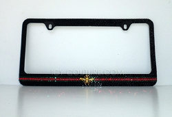 Classic Bee License Plate Frame Swarovski Crystals