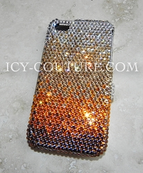 GOLDEN OMBRE Swarovski Crystals Design on Your Phone Model.