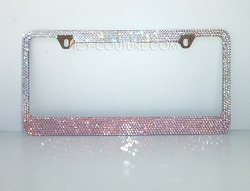 Cotton Candy License Plate Frame Swarovski Crystals