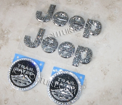 Crystal JEEP SAHARA Replacement Emblems. Whats Your Color?