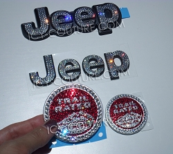 Crystal JEEP WRANGLER Replacement Emblems. Whats Your Color?