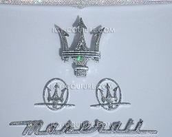 Swarovski Crystal Maserati emblems. Select Your Set
