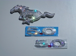 Crystal Mustang Horse Emblem, front or trunk. Whats your color?