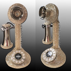 ICY Couture Crystal CANDLESTICK PHONE. Whats Your Color?