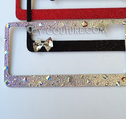 Oh, so glam, OLD HOLLYWOOD-style, Crystal License Plate Frame