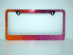 California Sunsets License Plate Frame with Swarovski Crystals