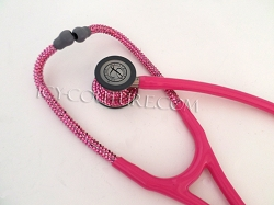 Pink Stethoscope with Swarovski Crystals. Select Your Brand & Color.
