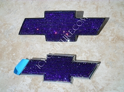 Custom CHEVY SUBURBAN Emblems with Swarovski Crystals . What your color?