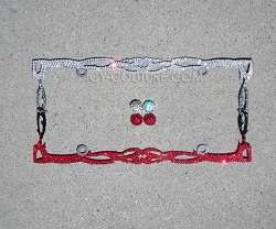 ROCK CHICK TWILIGHT Swarovski Crystals License Plate Frame