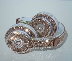 Rose Gold & Diamonds Couture Beats Design with Swarovski Crystals