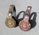 24K Gold or Rose Gold MONSTER Swarovski Crystals Bling Headphones