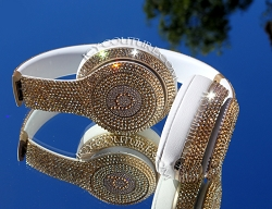 Golden Shadow BLING Beats Customized with Swarovski Crystals. Select Your Beats