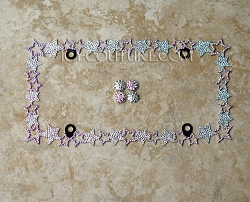 HAPPY STARS -  Bling License Plate Frame with Swarovski Crystals