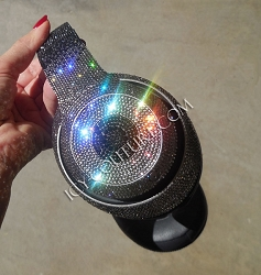 BLACK OMBRE - Custom Bling Beats Design w/Swarovski Crystals.