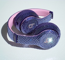 Lavender Tanzanite Bling Beats Design with Swarovski Crystals