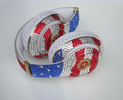 American Flag Headphones Design Swarovski Crystals