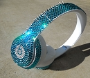TURQUOISE BLING BEATS by Dre with Swarovski Crystals