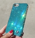 ICY Couture TURQUOISE Swarovski BLING iPhone 5 Phone Cover