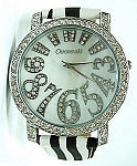 Bling-Bling Fashion Unisex Watch -  ICED Funky Numbers - Zebra