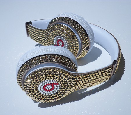 24K GOLD Swarovski Crystals Custom BEATS. Whats Your Colors?