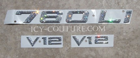 760LI Icy Couture Custom Crystallized Car Letters!