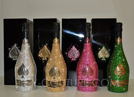 COLLECTOR's ITEM: ICY Couture Crystal Bottle of Armand De Brignac