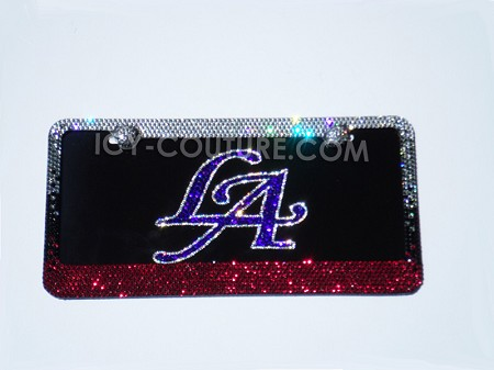 LA Custom License Plate with Swarovski Crystals